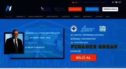 a1capital.com.tr - a1 capital yatırım menkul değerler a.ş.