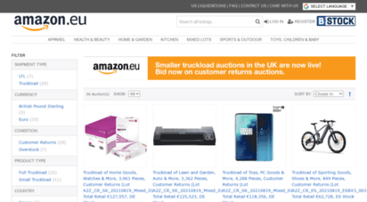 Welcome to A2z bstock com - Amazon Liquidation Auctions Marketplace
