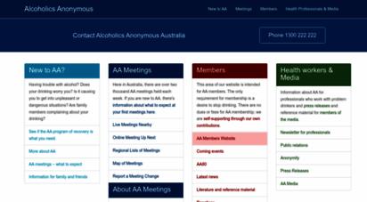 aa.org.au - alcoholics anonymous