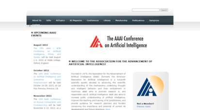 aaai.org - association for the advancement of artificial intelligence