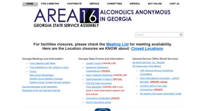 aageorgia.org - area 16 alcoholics anonymous in georgia - home