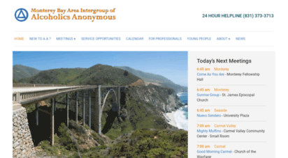 aamonterey.org - alcoholics anonymous on the monterey peninsula, california
