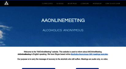 aaonlinemeeting.net - aa online meetings
