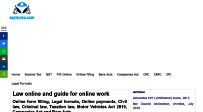 aaptaxlaw.com - income tax ratesipc, crpc, cpc, gst, companies act, bare act