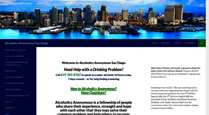 aasandiego.org - alcoholics anonymous san diego official website