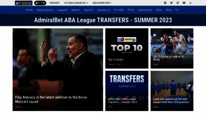 aba-liga.com - home : aba league
