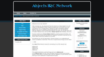 abjects.net - home - abjects irc network