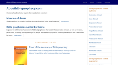aboutbibleprophecy.com - about bible prophecy
