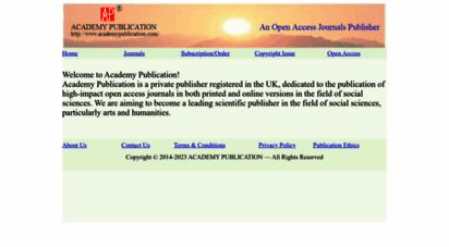 academypublication.com - home-academy publication