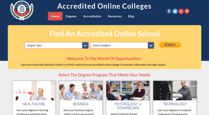 Accredited Online Colleges >> Welcome To Accredited Online Colleges Com Best Accredited