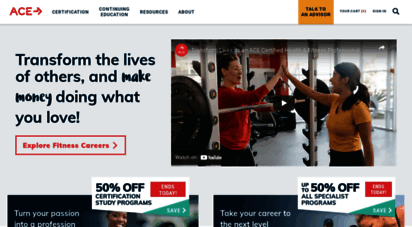 similar web sites like acefitness.org