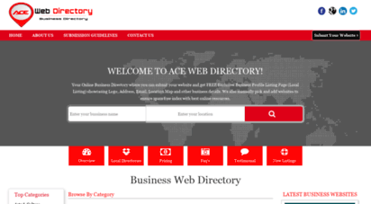 acewebdirectory.com - business directory  online business web directory  free local business listings  ace web directory