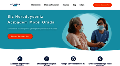 acibademmobil.com.tr - evdekal  acıbadem mobil sağlık