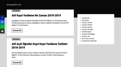 acikogretim.net - aöf - açiköğretim - anadolu üniversitesi