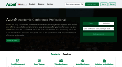 aconf.org - aconf - global academic conference management solutions-conference website construction