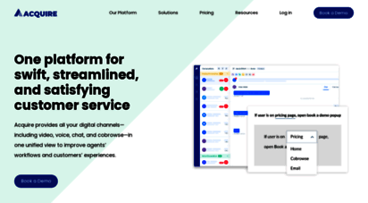 acquire.io - acquire  a unified customer engagement platform