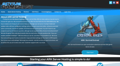 activegamehost.com - ark server hosting only $12  rent your server from the best!