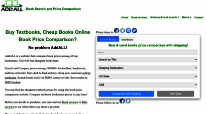 addall.com - addall book search and price comparison