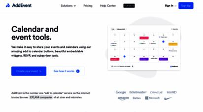 addevent.com - add to calendar button for websites and newsletters - addevent.com