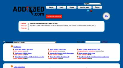 addic7ed.com - addic7ed.com - the source of latest tv subtitles
