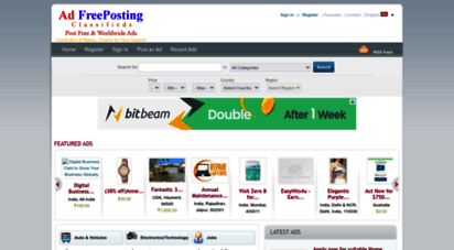adfreeposting.com - post free classified ads in india and worldwide