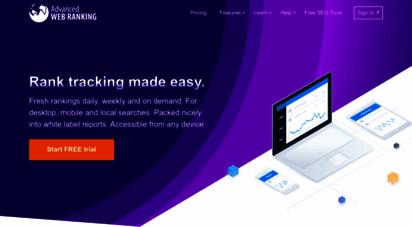 advancedwebranking.com - world´s longest standing rank tracking tool - advanced web ranking