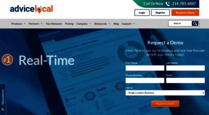 advicelocal.com - local listing management software & solutions  advice local