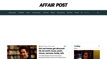 affairpost.com - affair post - celebrity biographies: wiki, relationships, dating, spouses, partners, family, weight, height information