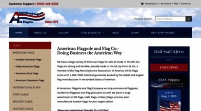 aflag.com - american flagpole & flag co.