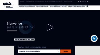 afnic.fr - registre internet des noms de domaine en .fr et en .re / solutions de registre - afnic