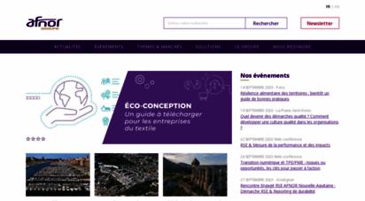 afnor.org - afnor solutions - les services du groupe en france et à l´international