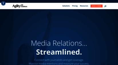 agilitypr.com - agility pr solutions  media relations, streamlined