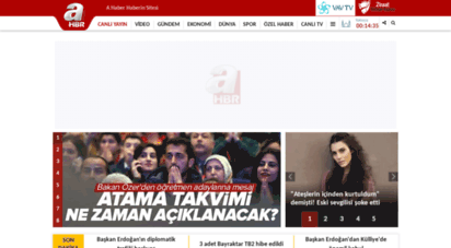 ahaber.com.tr - ahaber - güncel haberler - son dakika ve en son haberler -flaş haberler ahaber canlı yayın video izle