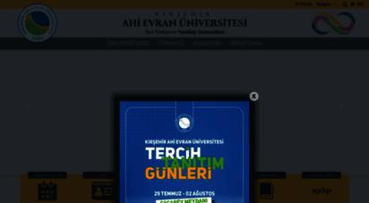 ahievran.edu.tr - anasayfa - kırşehir ahi evran üniversitesi