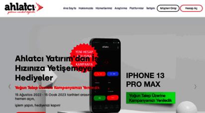ahlatciyatirim.com.tr - ahlatcı yatırım - yatırımın yeni adresi