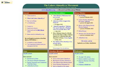 ahmadiyya.org - the lahore ahmadiyya movement in islam