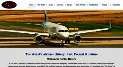 airlinehistory.co.uk - airline history - home page