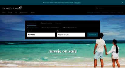 airnewzealand.co.nz - air new zealand  flight bookings from nz to 260 global destinations