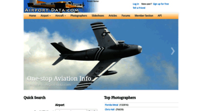 airport-data.com - one-stop aviation information - airport and aircraft information