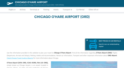 airport-ohare.com - chicago o´hare international airport