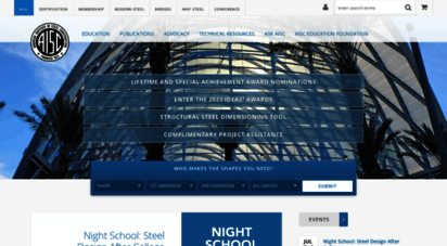 aisc.org - aisc home  american institute of steel construction