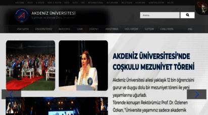 akdeniz.edu.tr -