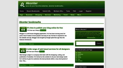 akonter.com - akonter bookmarks  social bookmarking service