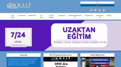 aktifonline.net - ..:: www.aktifonline.net ::....:: smmm staj bitirme kursları ::..