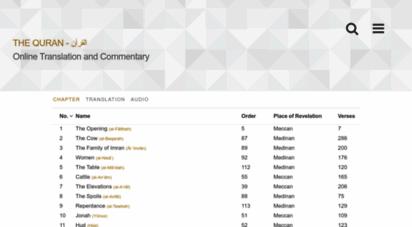al-quran.info - al-quran القرآن — online quran project — translation and tafsir