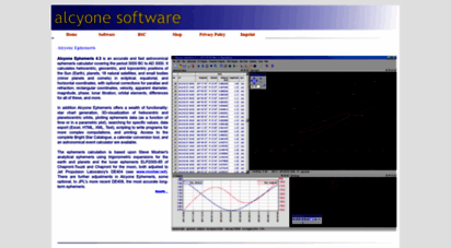 Welcome to Alcyone de - Alcyone Astronomical Software
