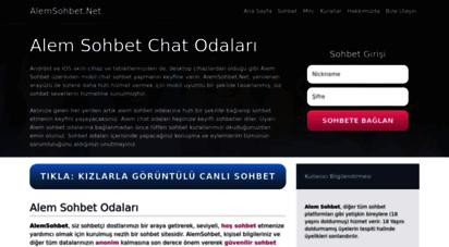 alemsohbet.net - alemsohbet.net  sohbet muhabbet, mobil chat sohbet odaları