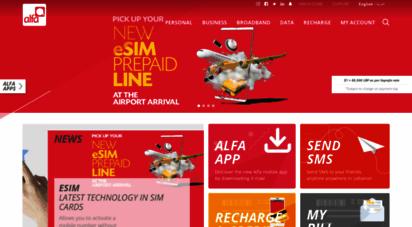 alfa.com.lb - alfa  lebanon´s first mobile network managed by orascom telecom