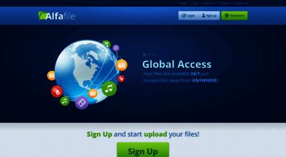 alfafile.net - main page  alfafile.net