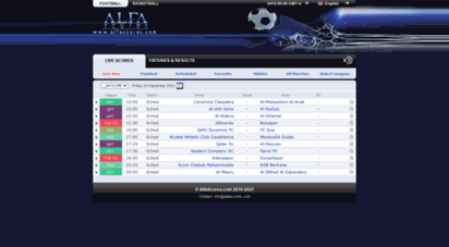 alfascores.com - alfascores - live scores